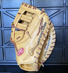 """Rawlings Heart of the Hide Gold Glove PROTMJ 1st Base Mitt Used 13"""" Inch"""