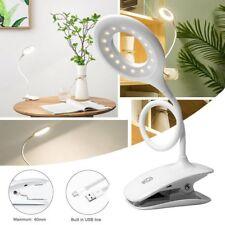 USB Flexible Reading LED Light Clip-on Desk Table Touch Lamp Book Bedroom Light