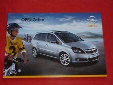 Opel Zafira B base catch me now Sport Cosmo OPC folleto de 2007