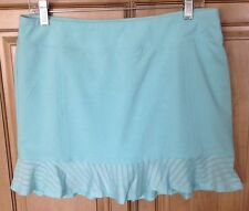Adidas Ladies Tour Mesh Skort Skirt Clear Aqua Large L $75 Sold Out