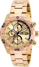 New Mens Invicta Specialty Chronograph Rose Dial Steel Bracelet Watch