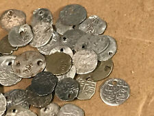 Holed Ancient Coins Unidentified Medium sized Islamic Silver Coins