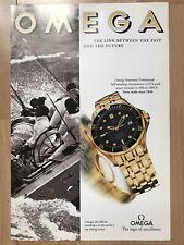 Omega Seamaster 18ct 1994 Advertisement Pub Ad Werbung