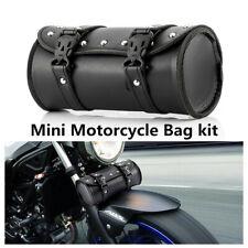 Motorcycle Cruiser Tool Bag Fork Barrel Shape Handlebar Front Fork Bag Black