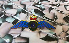 Royal Air Force Wings Queens Crown Sweetheart Brooch / Badge RAF (G)