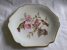 "Vintage Mitterteich Bavaria Germany 7.5"" Hummingbird Plate Scalloped Gold Trim"