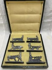 Antique Silverplate Farm Animal Knife Rests