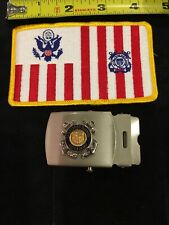 Vintage U.S. Coast Guard Auxiliary Buckle And Patch