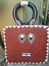 African Ivory Coast Baule Goli horned Kple Kple square mask large