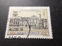 AUTRICHE 1982, timbre 1537, VILLE DE LANGELLOIS, oblitéré, VF STAMP