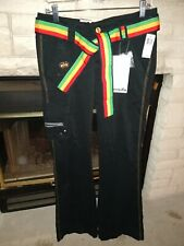 Luxirie Lifted Research Group Easily Amused Pants 30 Black Flare NWT