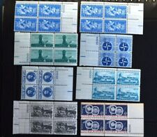US stamps MNH plate blocks 1958-59 sc#1123-25;1127-28;1130-31 32 stamps 4 cent