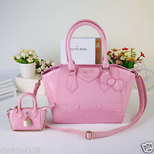 Hello Kitty Samantha Pink 2 way Handbag Enamel with Mini Charm Bag KK670