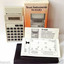 Vintage 80' Business Calculator Texas Instruments TI-1020 TI 1020 Boxed Complete