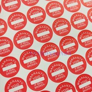 Fragile WARRANTY VOID IF SEAL IS BROKEN Warranty Sticker Red Round Size 1000pcs