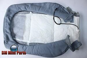 BMW E46 COUPE COMPACT FRONT BASIC SEAT BACK LEATHER COVER GREY NLA 52108260991