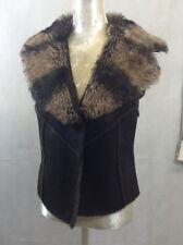 Women`s Brown Fuax Fur Body warmer / Gilet / Waist Coat Miss Posh UK-12   C4