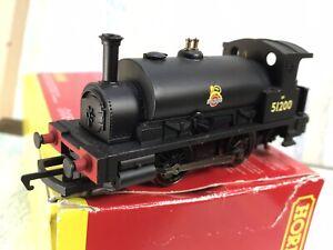 Hornby R2960 Class Pug 51200 Tank Locomotive Tested fine VGinVGBx