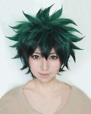 My Hero Academia Deku Izuku Midoriya Green with Black Short Cosplay Wig US