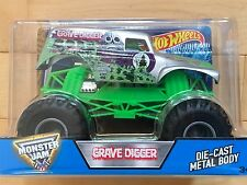 HOT WHEELS MONSTER JAM GRAVE DIGGER TRUCK Large Scale 1:24 SILVER