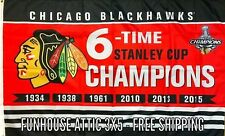 Chicago Blackhawks NHL Stanley Cup Championship FLAG 3x5 Banner Man-cave NEW