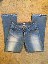 ABERCROMBIE AND FITCH DISTRESSED FLARE JEANS...SIZE 8