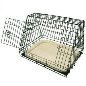 Deluxe Sloping Puppy Travel Cage Folding Pet Dog Training Crate - Fits Most Cars