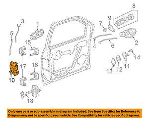 GM OEM Front Door-Door Lock Kit 15110507