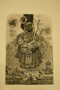 Oleg Denisenko, original etching entitled 'Scotia' 2018