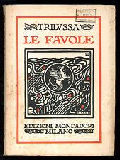 TRILUSSA LE FAVOLE MONDADORI 1926 COPERTINA CISARI
