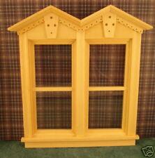 1 /12 Scale Dollhouse Double Fancy NonWorking Window