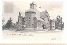 First M E Church Alexandria In Mailed 1907 Methodist Episcopal Postcard 6103