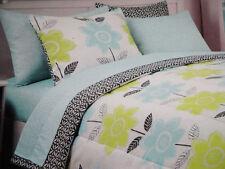 NIP Cynthia Rowley Green/Aqua Blue Twin/Twin XL Duvet Cover Set 2pc