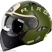 CASCO MODULARE AIROH J106 SMOKE GREEN MATT FLIP UP HELMET HELME DUCATI BMW TG XS