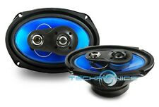 """PAIR NEW 6X9"""" 300 WATTS 3-WAY CAR AUDIO COAXIAL STEREO SPEAKERS"""