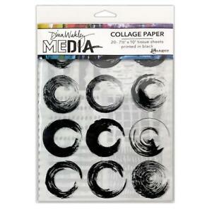 Dina Wakley Media Collage Tissue Paper 20pcs - Elements