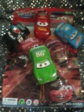 8-DISNEY PIXAR CARS PLASTIC FIGURINES--PARTY CAKE CUPCAKE TOPPERS