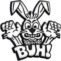 Auto CHROM Relief Schild BUH ! BUNNY Hase Emblem 7 cm HR Art. 4950