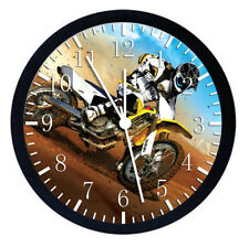 Motor Cross Black Frame Wall Clock W49