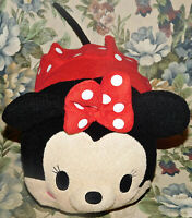 "Disney Tsum Tsum LARGE 12"" Plush Minnie Mouse pillow Authentic Stuffed Toy Rare"