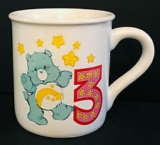 Vintage Care Bears 3 3rd Birthday Mug American Greetings Stoneware Child Cup