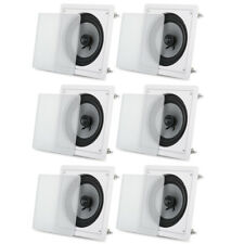 "Acoustic Audio CS-I82S Flush Mount In Ceiling Speakers with 8"" Woofers 3 Pair"