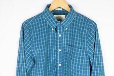 Abercrombie & Fitch Men Casual Shirt Blue Check Cotton size M