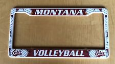 Montana Griz Volleyball Plastic license plate frame NEW