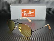 RAY BAN RB3025 90664A Aviator Matte Black Photo Yellow 58 mm Men's Sunglasses