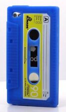 for iPod touch 4th 4 th gen itouch cassette tape blue soft rubber case