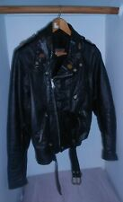 BROOKS LEATHER MOTORCYCLE JACKET, GOOD COMPONENTS, w/HARDWARE, MEN'S 38, SWEET!