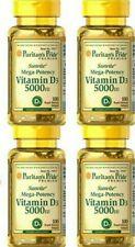Vitamin D3 5000IU Mega-Potency 400 Softgel Bone Health Max Strength USA Exp 2023