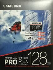 Samsung 128GB MicroSDXC Pro Plus Memory Card w/ SD Adapter (UHS-I U3) - In Box