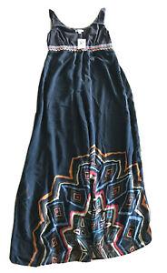 Rockmans Womens 10 Border Print Long Maxi Dress BNWT